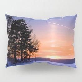Сolumn of light and contrails Pillow Sham