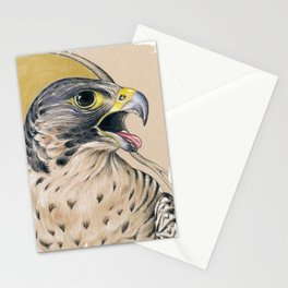 Peregrine Falcon Ink Art Stationery Cards