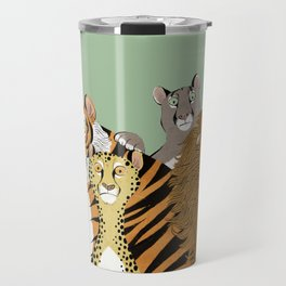 Surprised Big Cats Travel Mug