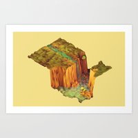 waterfall Art Prints featuring Waterfall by Timothy J. Reynolds