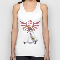 smash bros Tank Tops featuring Smash Bros - Zelda by Emm Gee Art