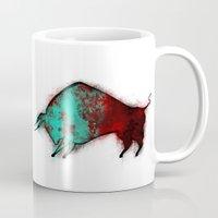 bull Mugs featuring Bull by ewdondoxja