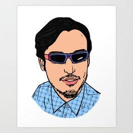 Filthy Frank Sticker Pink Guy Face Joji Portrait Art Print
