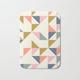 Floating Triangle Geometry Bath Mat