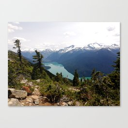 Turquoise gem of mountains - Cheakamus Lake Canvas Print