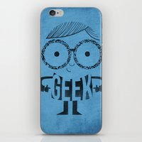 geek iPhone & iPod Skins featuring GEEK by Farnell