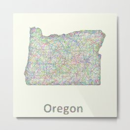 Oregon map Metal Print