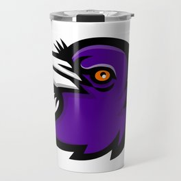 Australian Magpie Head Mascot Travel Mug