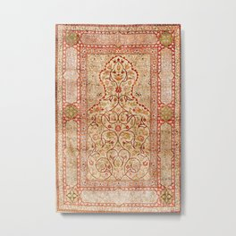 Hereke Northwest Anatolian Silk Rug Print Metal Print