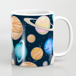 Planetary space pattern Coffee Mug