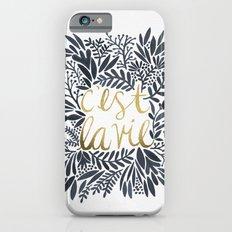 C'est la Vie – Grey & Gold iPhone 6 Slim Case