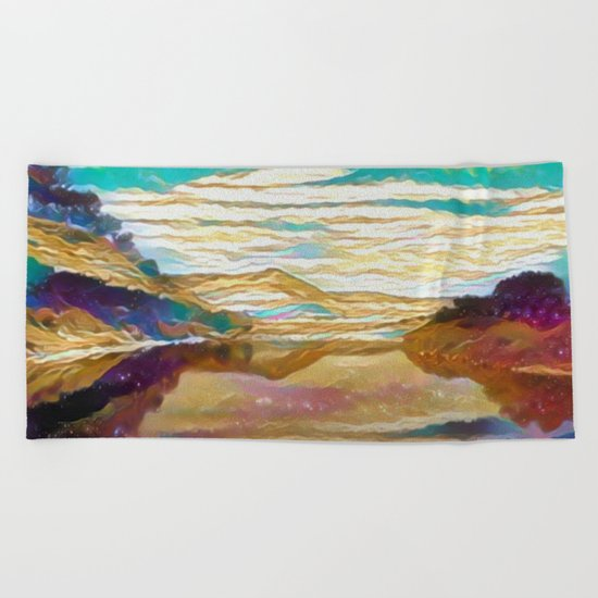 View From The Bridge Beach Towel