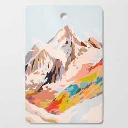 glass mountains Cutting Board