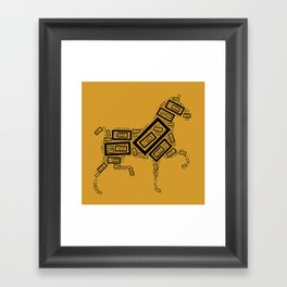 Horse Pattern Framed Art Print