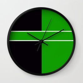 Team Color 6...Green,black Wall Clock