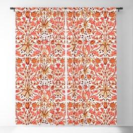 William Morris Hyacinth Print, Orange and Rust Blackout Curtain