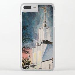 Nuku'alofa Tonga LDS Temple Clear iPhone Case