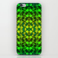 green pattern iPhone & iPod Skins featuring Green pattern. by Assiyam