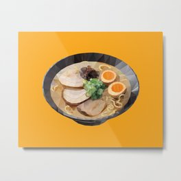 Japanese Tonkotsu Ramen Polygon Art Metal Print