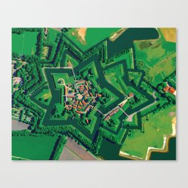 Star Fort Bourtange in the Netherlands Canvas Print