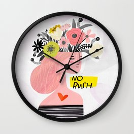 Crabby Dog: No Rush Wall Clock