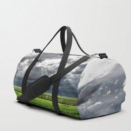 Beams - Sunbeams Illuminate Colorado Landscape On Stormy Day Duffle Bag