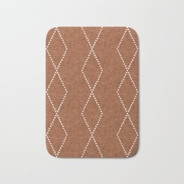 geometric diamonds - ginger Bath Mat