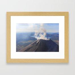 Karymsky Volcano Framed Art Print