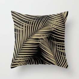 Palm Leaves - Gold Cali Vibes #2 #tropical #decor #art #society6 Throw Pillow