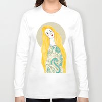 jessica lange Long Sleeve T-shirts featuring Jessica by Juana Andres
