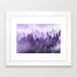 Ultra Violet Adventure Forest Framed Art Print