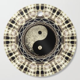 Yin Yang Geometry Mandala V1 Cutting Board