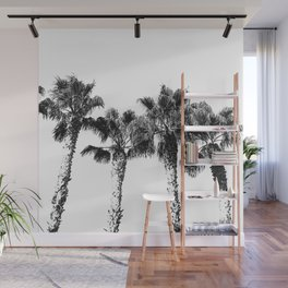 Tropical Palm Tree Photography {2 of 2} | Black and White Wall Mural