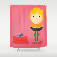 aquaman Shower Curtains featuring My liquid hero! by Juliana Rojas | Puchu