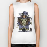 witch Biker Tanks featuring Witch by Kape