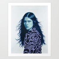 luna Art Prints featuring Luna by Amanda Mocci