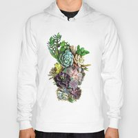 succulent Hoodies featuring Succulent gardens by Just Kidding