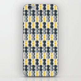 Uende Grayellow - Geometric and bold retro shapes iPhone Skin