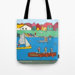 Canoeing Summer Camp Tote Bag