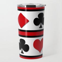 Four card suits Travel Mug