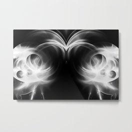 abstract fractals mirrored reacbw Metal Print