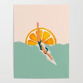 Girl Dive Poster