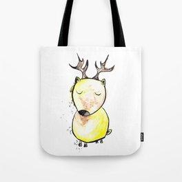 Watercolor sleepy deer Tote Bag