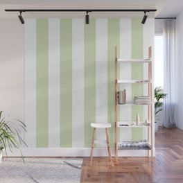 Gin grey - solid color - white vertical lines pattern Wall Mural