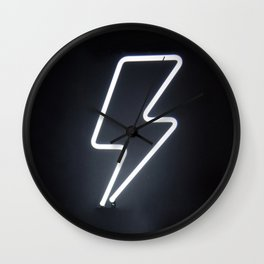Lightning Bolt (Neon) Wall Clock