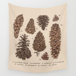 Pinecones Wall Tapestry
