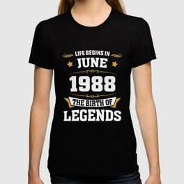June 1988 30 the birth of Legends T-shirt