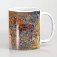pony Mugs featuring Pony by evisionarts