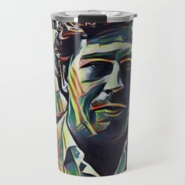 Pablo Escobar Artistic Illustration Picasso Style Travel Mug