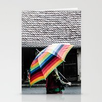umbrella Stationery Cards featuring umbrella by Deviens
